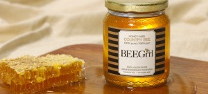 BeeGrrl honey oozing from honeycomb