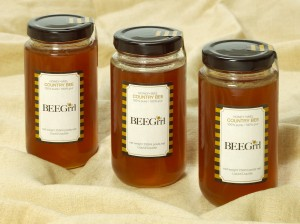 BEEGrrl Grey Highlands, 100 % pure honey, Ontartio Canada 250 ml